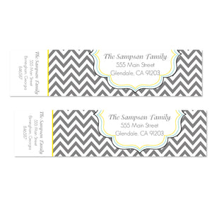 Chevron Modern Wrap Address Labels