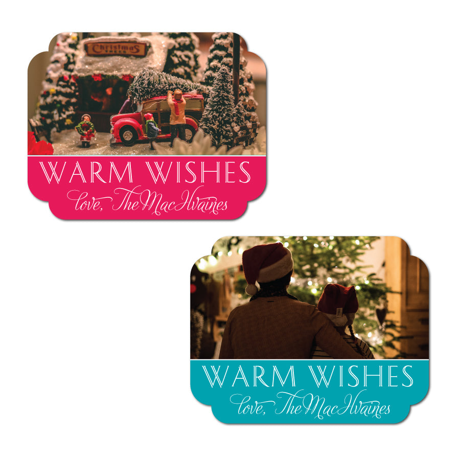 Unique Diecut Holiday Labels