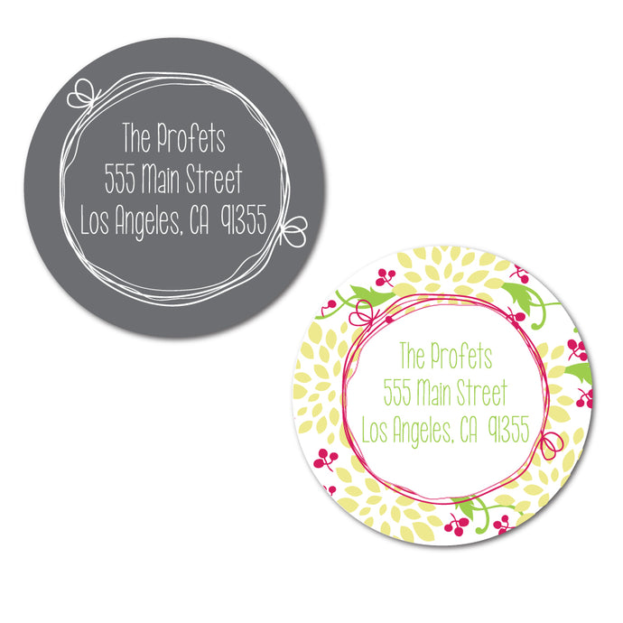 Doodle Circle Address Labels