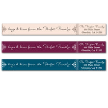 Load image into Gallery viewer, Fancy Flourish Skinny Wrap Labels - NEW COLORS
