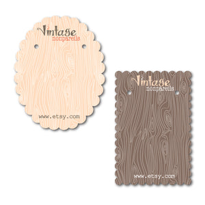 Faux Bois Jewelry Cards