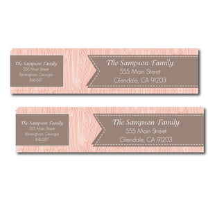 Faux Bois Wrap Labels