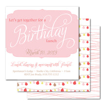Load image into Gallery viewer, Flourish Frame Birthday Invitation