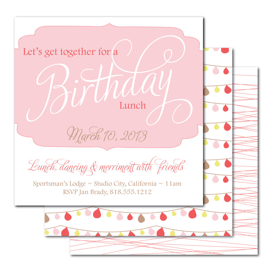 Flourish Frame Birthday Invitation