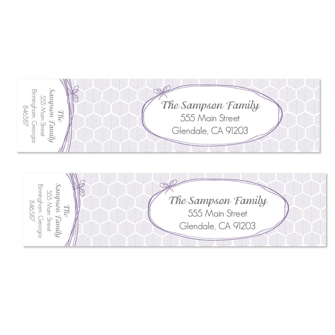Geometric Leaf Wrap Labels