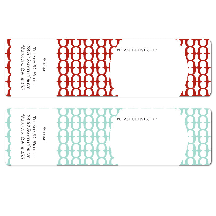 Geometric Design Wrap Labels
