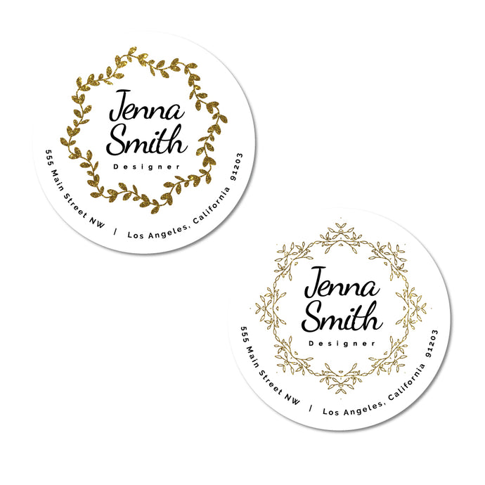 Elegant Wreath Address Labels