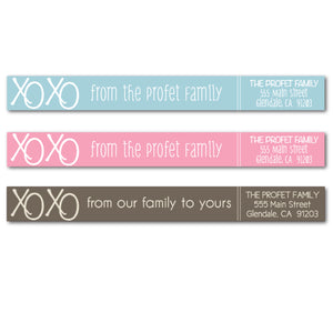 XOXO Skinny Wrap Labels