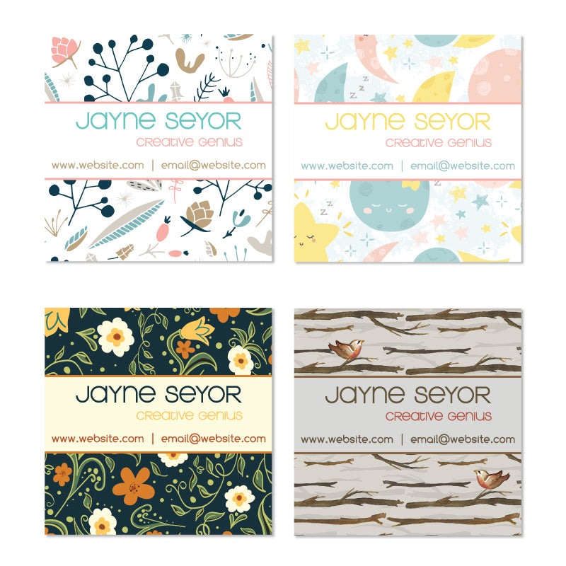 Fun Patterned Mini Calling Cards