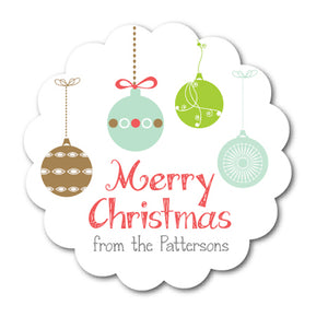 Holiday Ornaments Family Stickers