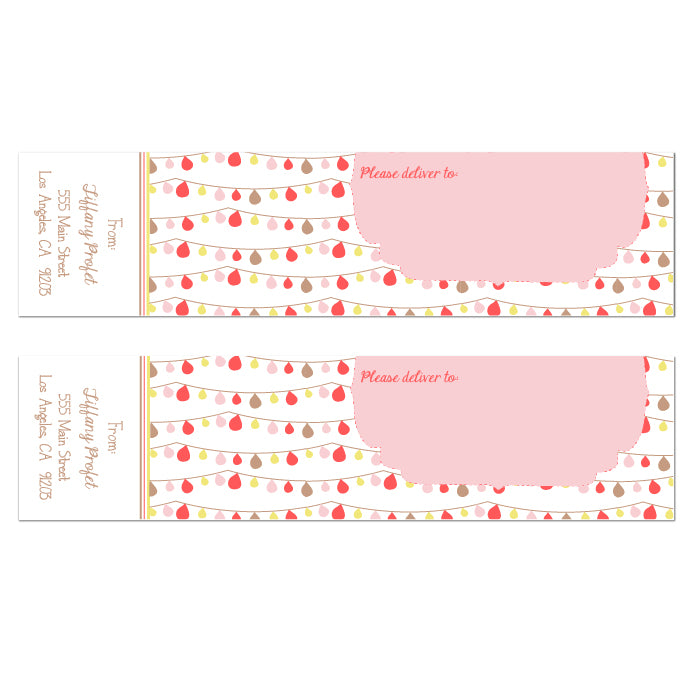 Party Fun Balloons Wrap Labels