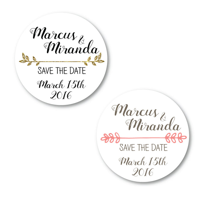 Save the Date Circle Labels