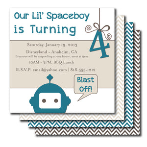 Space Kid Birthday Invitation