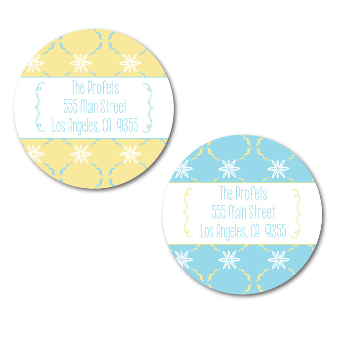Summer Floral Circle Labels