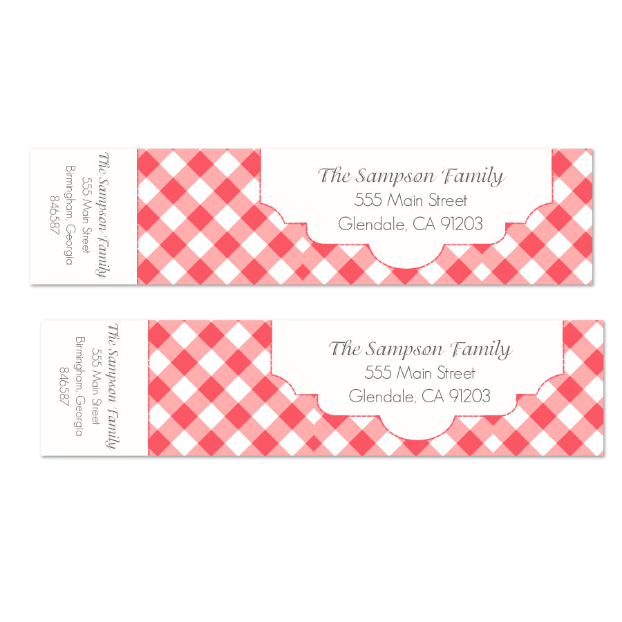 Summer Picnic Wrap Labels - Printable
