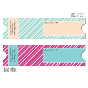Ticket Wrap Labels
