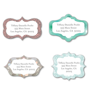 Elegant Pattern DieCut Labels