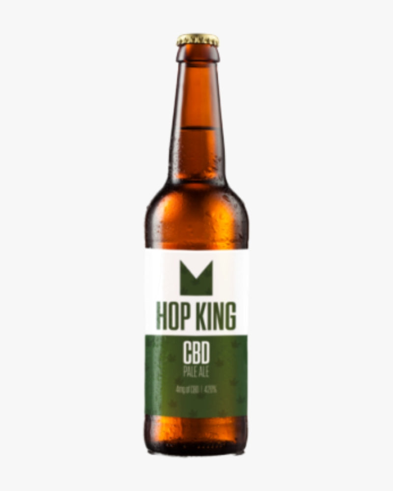 6 x HOP KING CBD PALE ALE – 33CL BOTTLE - GETCBD