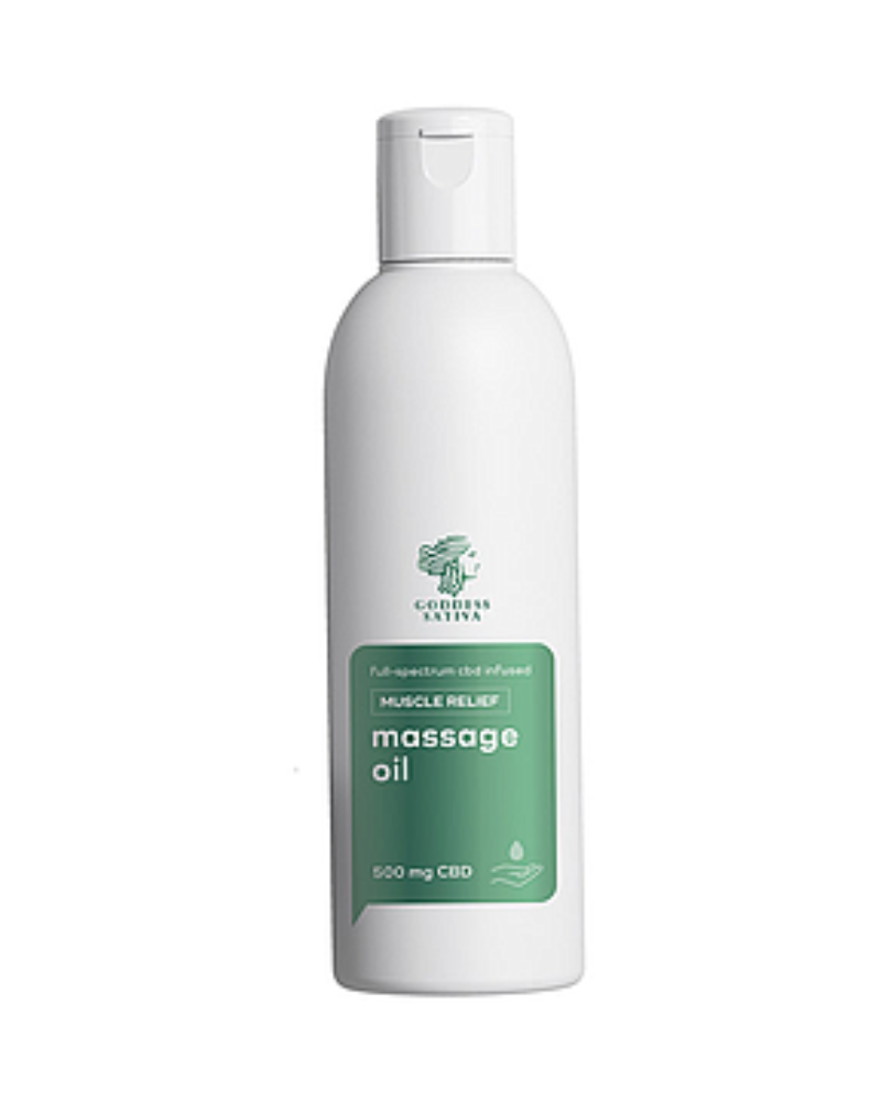 Massage Oil Muscle Relief 500 mg CBD, 200 ml - GETCBD