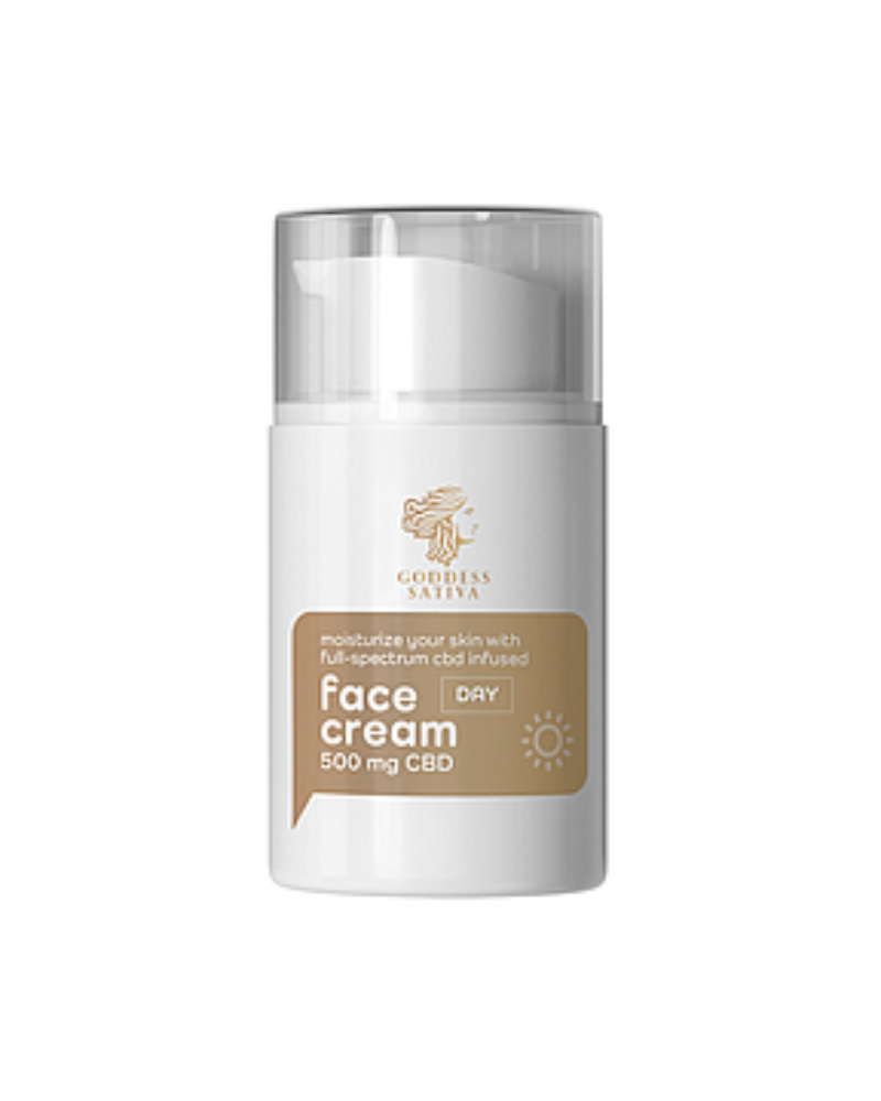 Moisturising Day Face Cream 500 mg CBD, 50 ml - GETCBD