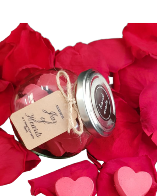 Jar of Hearts CBD Fizzy Bath Melts - GETCBD