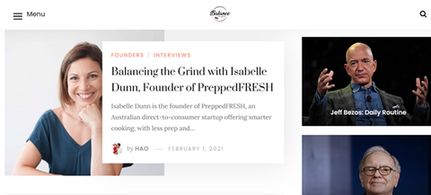 Balance The Grind Founder Interview Isabelle Dunn from PreppedFRESH