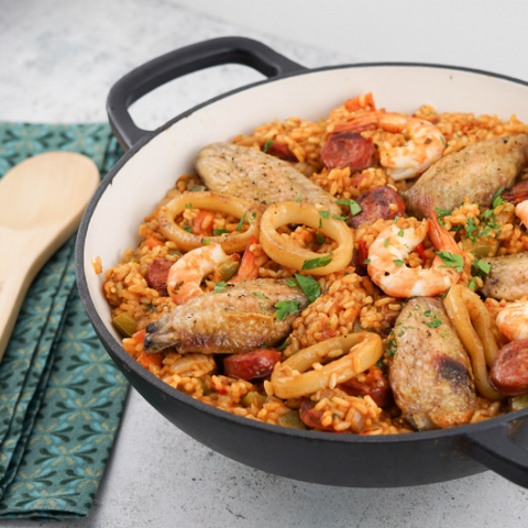 Seafood Paella Dinner Party Ideas // PreppedFRESH