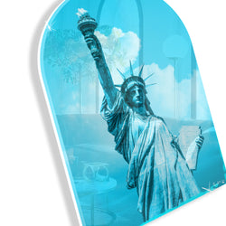 Lady Liberty Remixed (Cyan) (Arched)