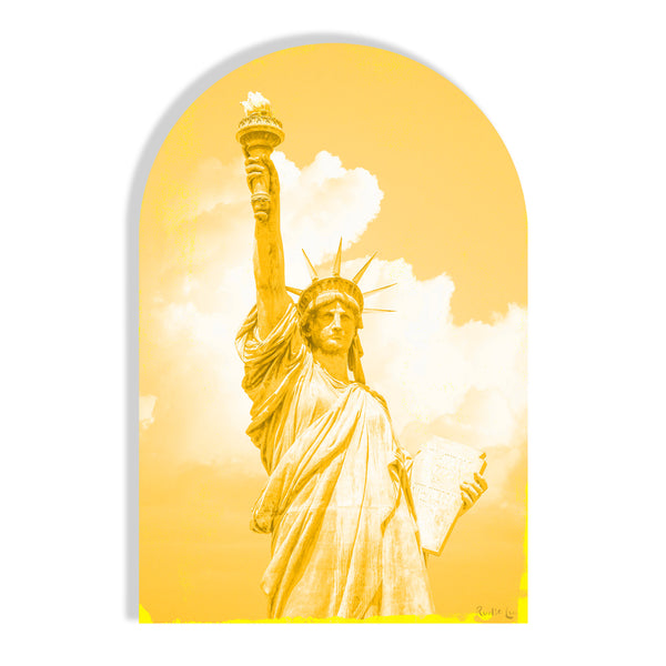 Lady Liberty Remixed (Yellow) (Arched)