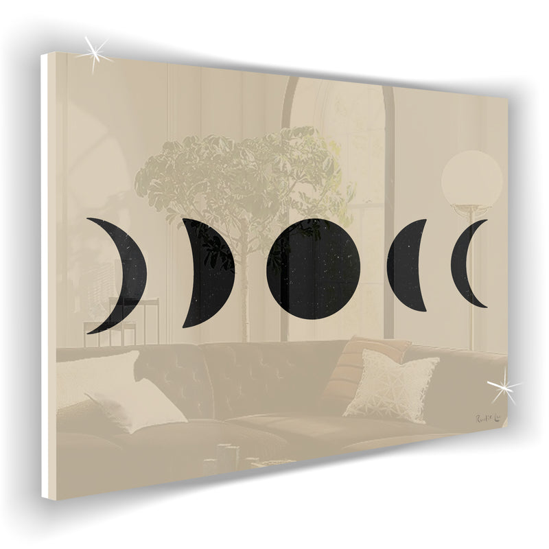 Moon Phases (Black) (Ecru)