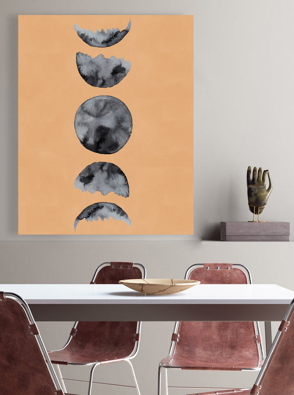 Moon Phases (Watercolor) (Neutral)