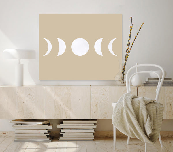 Moon Phases (White) (Ecru)