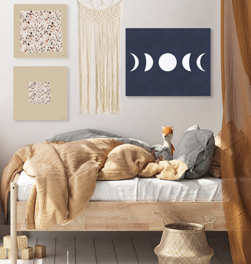 Moon Phases (White) (Navy)