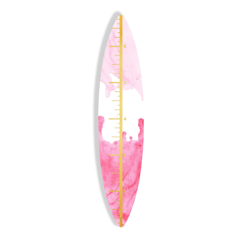 Surfboard Growth Chart (Pink Waves No. 02)