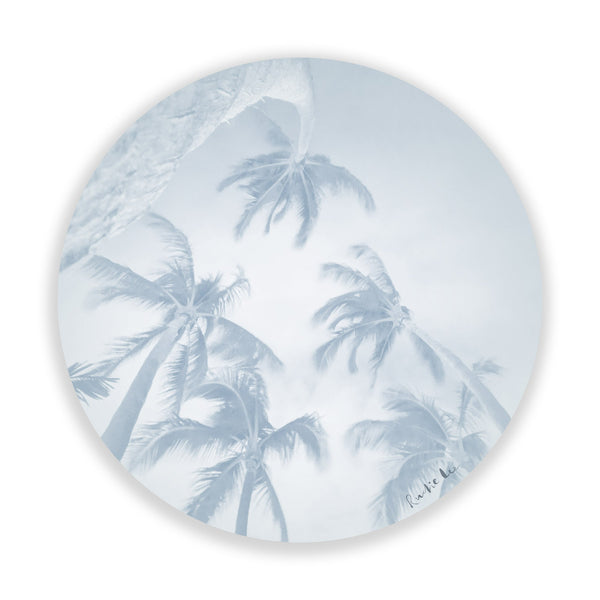 Swaying Palms (Pale Blue)