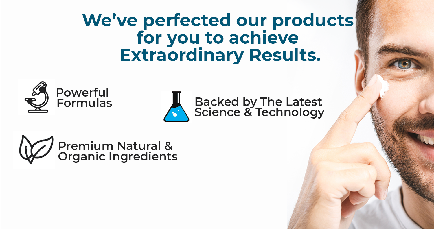 We've perfected our products for you to achieve Extraordinary results. Powerful formulas, backed by the latest technology and science, premium natural and organic ingredients. Best skincare and hair care for men from Brickell Miami. Antiaging men skincare