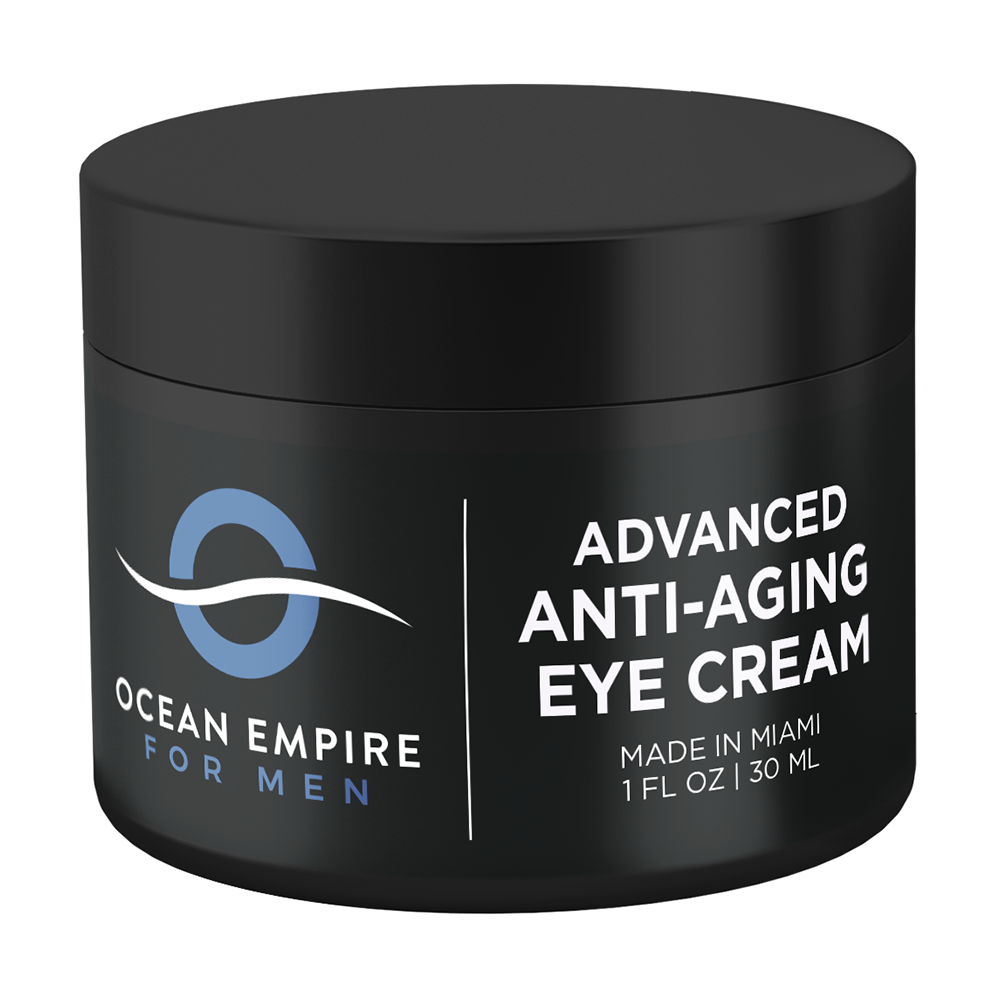 Ocean Empire for Men Advanced Anti-aging eye cream. Made in Miami.