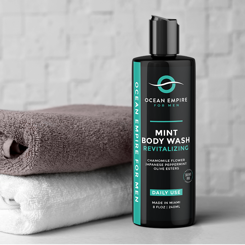 Ocean Empire Revitalizing Mint Body wash for men leaves your skin hydrated and fresh all day long. Designed for men