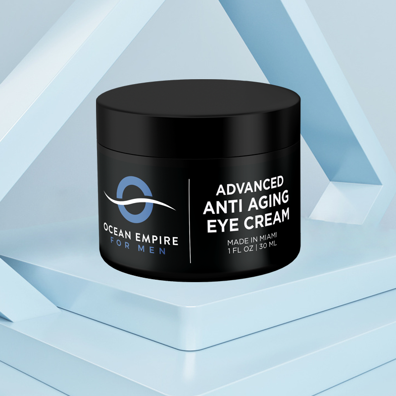 Men's Advanced Anti-aging eye cream. From Brickell, Miami.