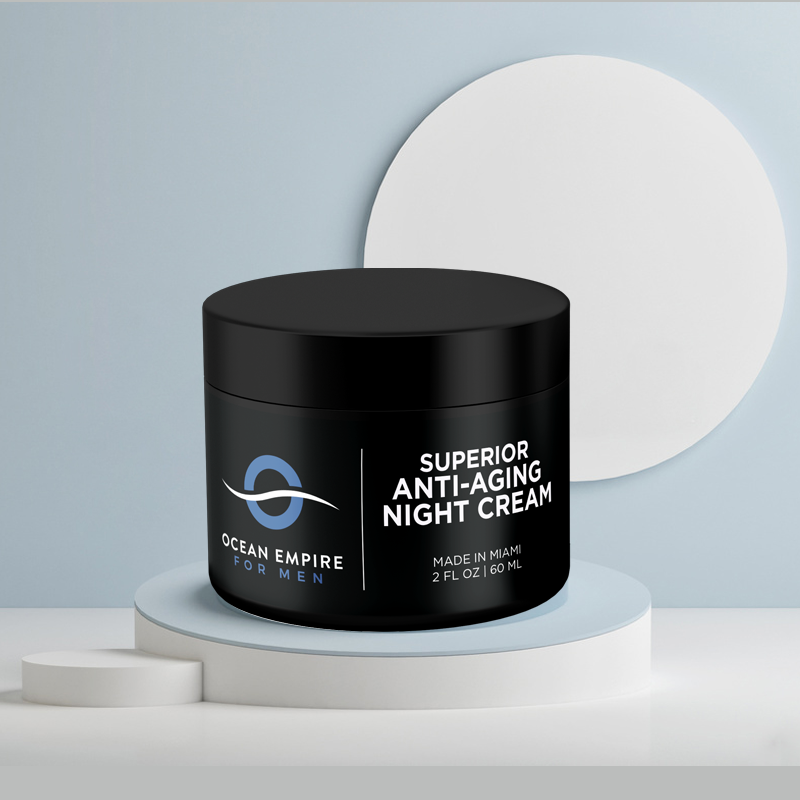 Ocean Empire for Men Superior anti-aging night cream with retinol. This is the best anti aging cream for men