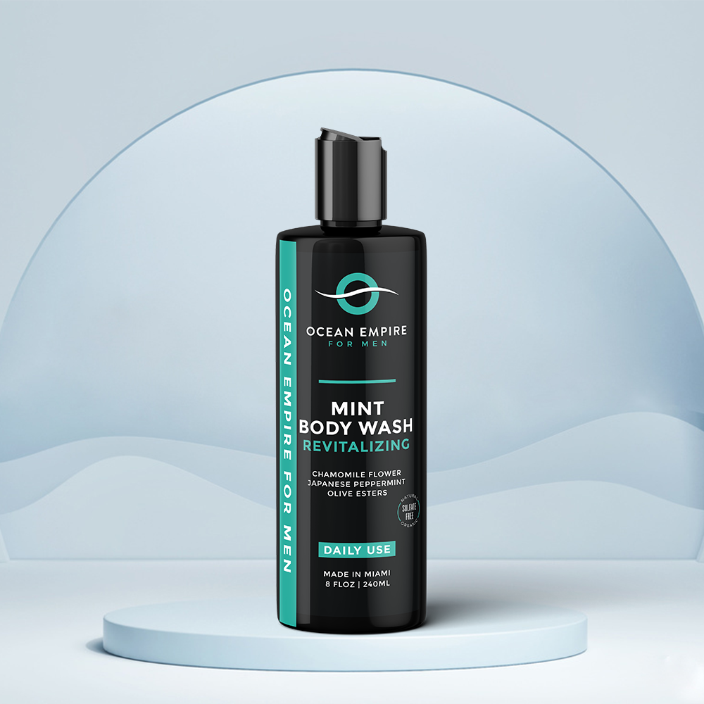 Ocean Empire Revitalizing Mint Body wash for men. Made in Miami