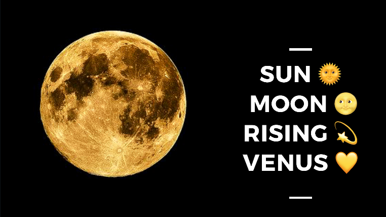 The Natal Chart: Sun, Moon, Rising & Venus