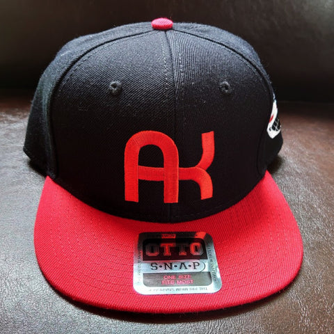 a.k.a samurai action AK cap red x black