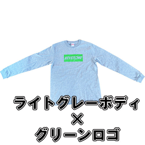 KEYSTONE Long sleeve shirt right gray×green