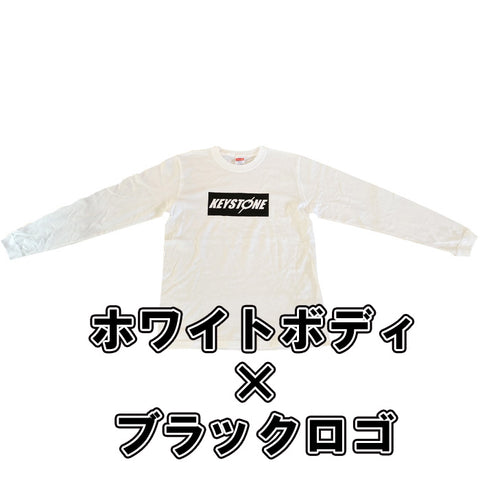 KEYSTONE Long sleeve shirt white×black