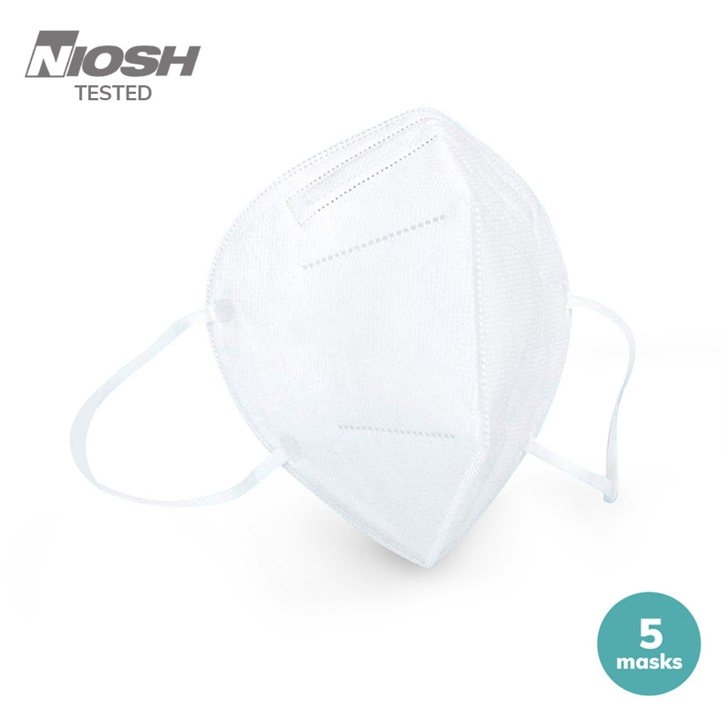 5 pack of N95 disposable face mask with ear loop