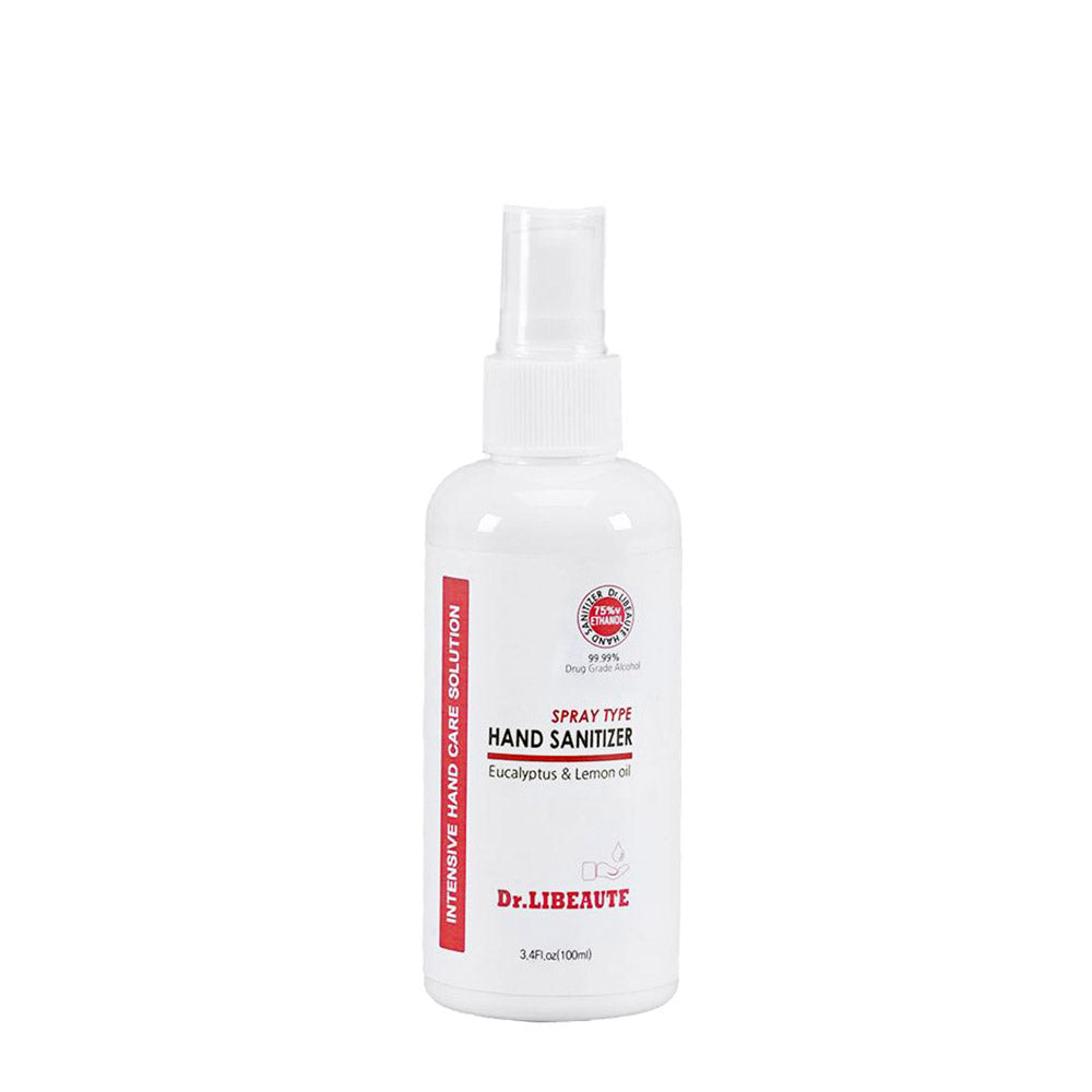 Dr. Libeaute 75% Alcohol Based Spray type, Premium Hand Sanitizer (3.4oz Fl oz)