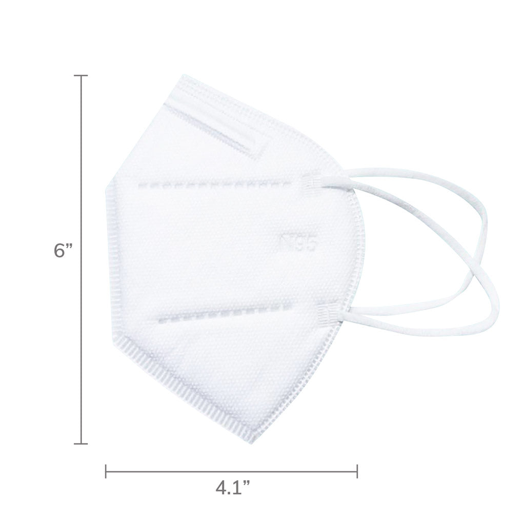 Dimension of N95 medical mask