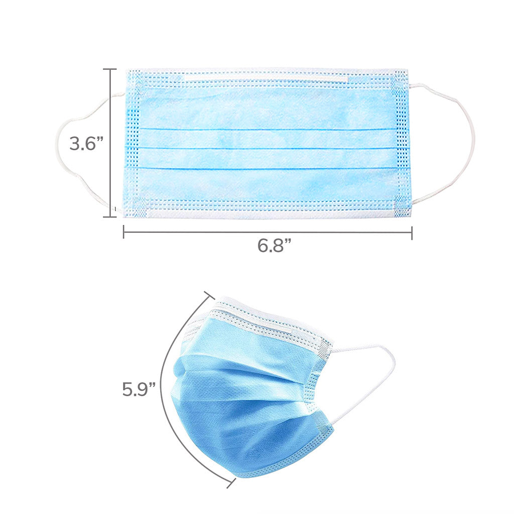 Dimension of surgical mask