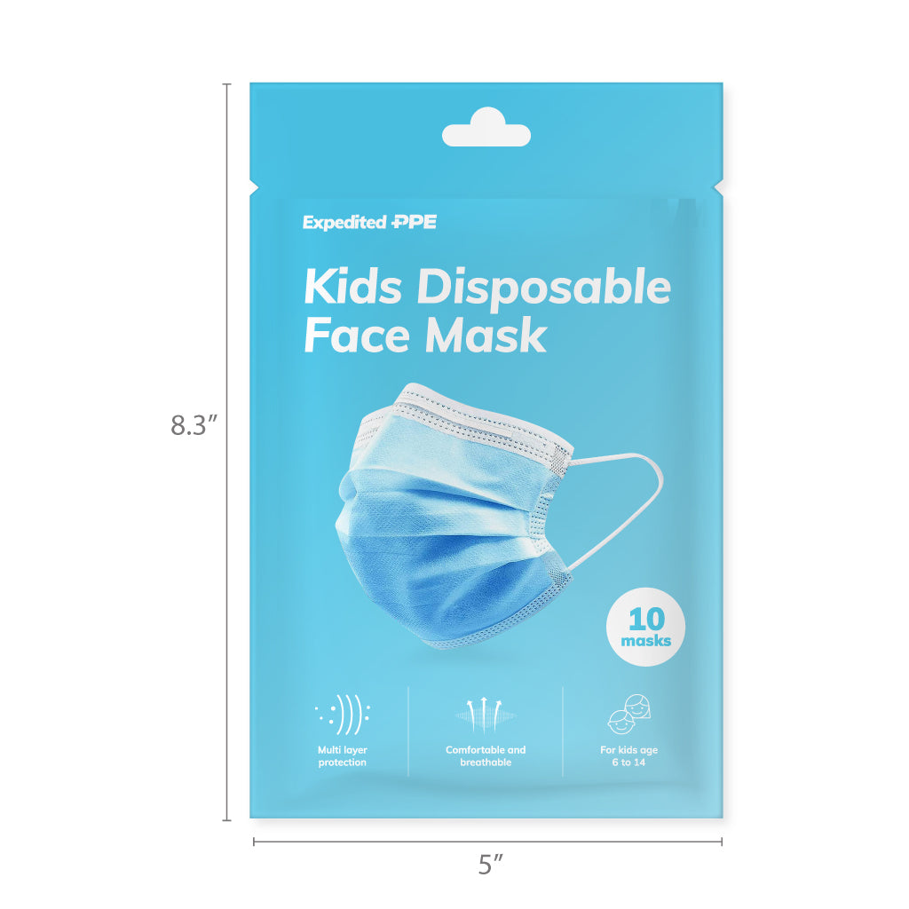 Disposable Kids Mask with Ear Loop (10-Pack)